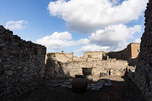 Photograph - Ancient Pompeii - A Bakery In The Deep Shadows by Georgia Mizuleva