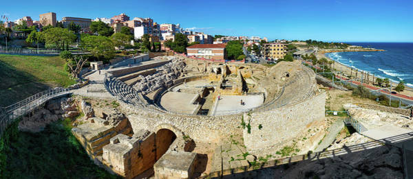 Photograph - Ancient Roman Amphitheater In Spain by Fine Art Photography Prints By Eduardo Accorinti