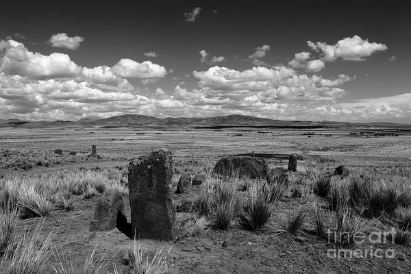 Photograph - Ancient Stones In The Bolivian Altiplano by James Brunker