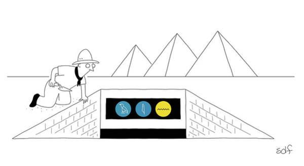 Subway Drawing - Ancient Subway by Seth Fleishman