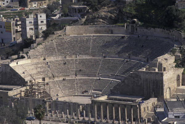 Jerash Photograph - Ancient Theater In Ancient Roman City by Richard Nowitz