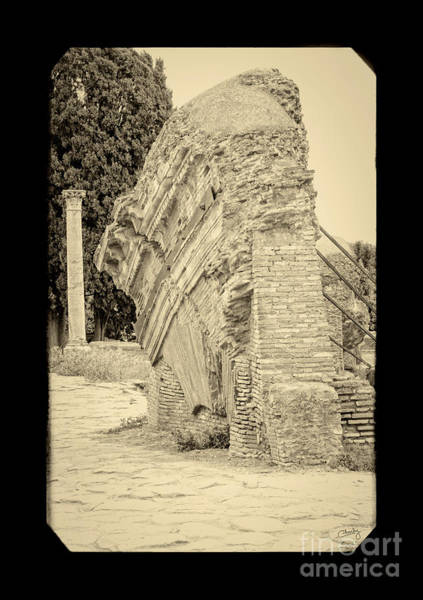 Photograph - Ancient Wall Of Ostia Antica by Prints of Italy