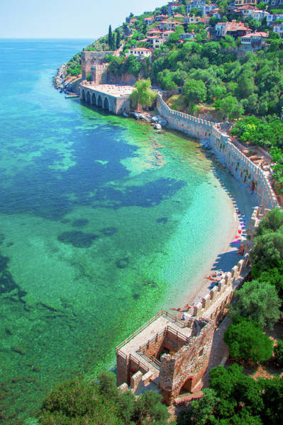 Photograph - Ancient Wall On The Beach Of Alanya by Sun Travels