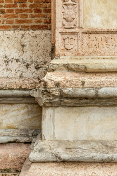 Wall Art - Photograph - Ancient Weathered Stone Column by W Chris Fooshee