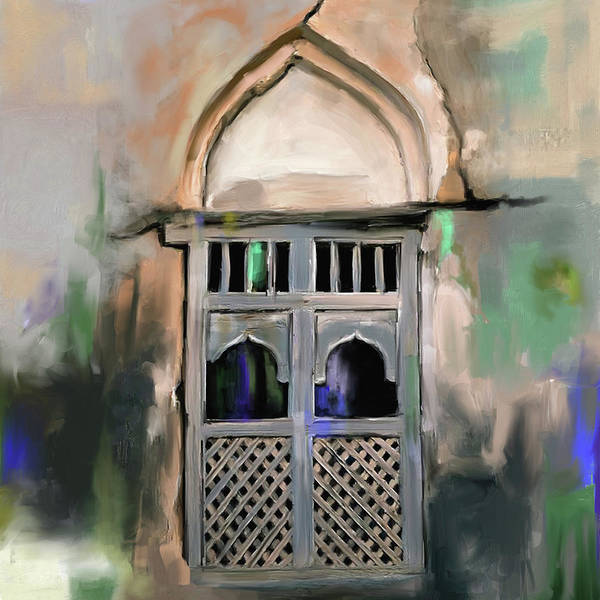 Wall Art - Painting - Ancient Window 677 1 by Mawra Tahreem