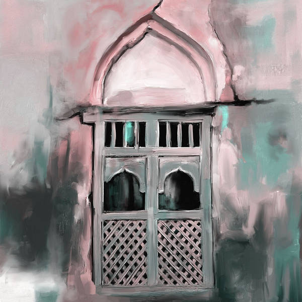Wall Art - Painting - Ancient Window 677 2 by Mawra Tahreem