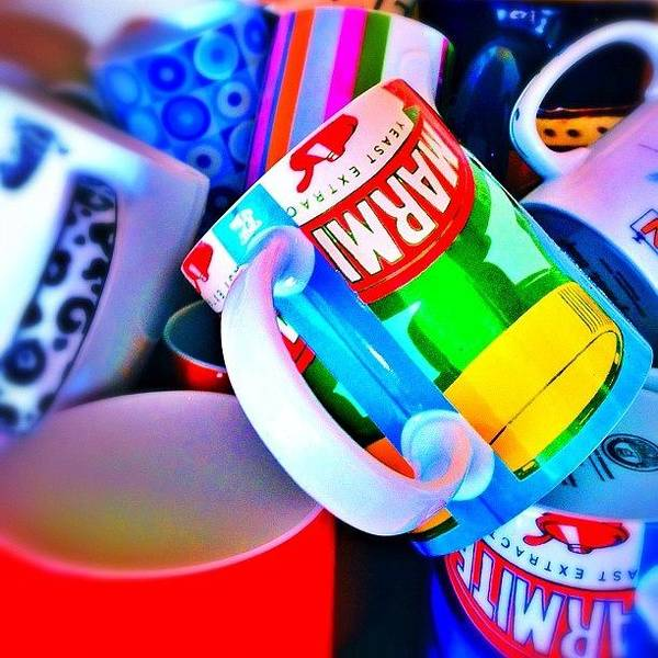 Bright Wall Art - Photograph - And A Jumble Of Mugs.... #mugs #jumble by Mark  Thornton