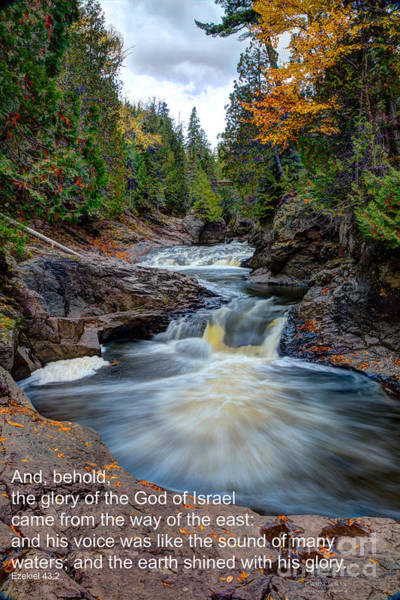 Bible Quotes Photograph - And His Voice Was Like The Sound Of Many Waters by Wayne Moran