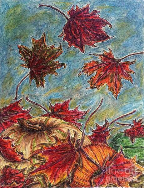 Painting - And The Leaves Came Tumbling Down by Kim Jones