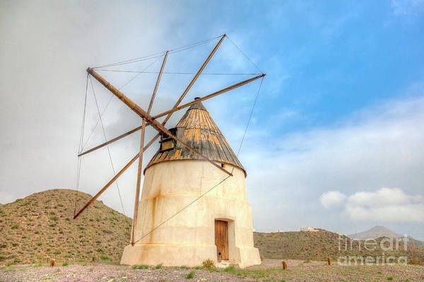 Photograph - Andalusian Windmill by Heiko Koehrer-Wagner