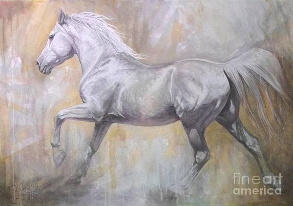 Running Horses Painting - Andante by Silvana Gabudean Dobre