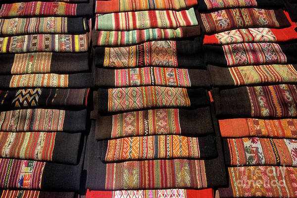 Photograph - Andean Textile Market by James Brunker