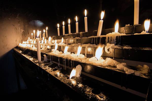 Photograph - Andechs Prayer Candles by Matt Swinden