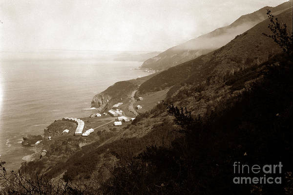 Photograph - Anderson Creek Labor Camp Big Sur April 3 1931 by California Views Archives Mr Pat Hathaway Archives