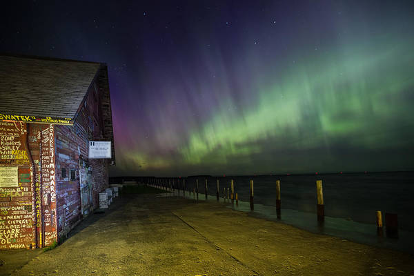 Photograph - Anderson Dock Aurora by Paul Schultz