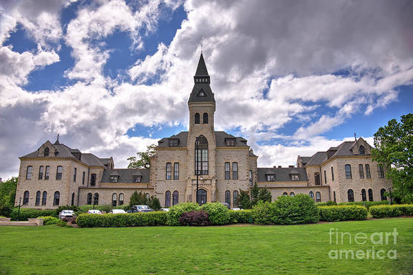 Kansas State University Photograph - Anderson Hall In Spring by Jean Hutchison