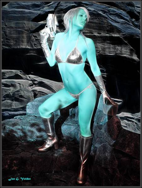 Painting - Andorian Space Vixen by Jon Volden