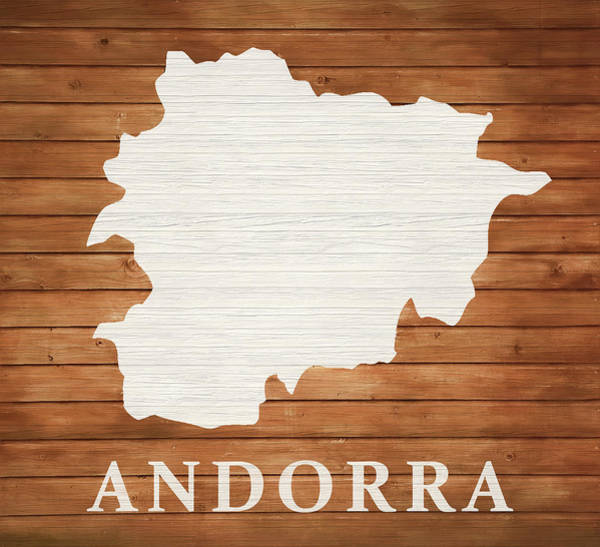 Traveler Mixed Media - Andorra Rustic Map On Wood by Dan Sproul