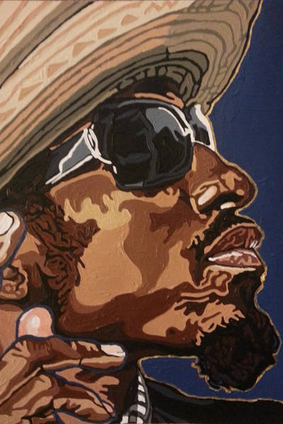 Painting - Andre 3000 by Rachel Natalie Rawlins