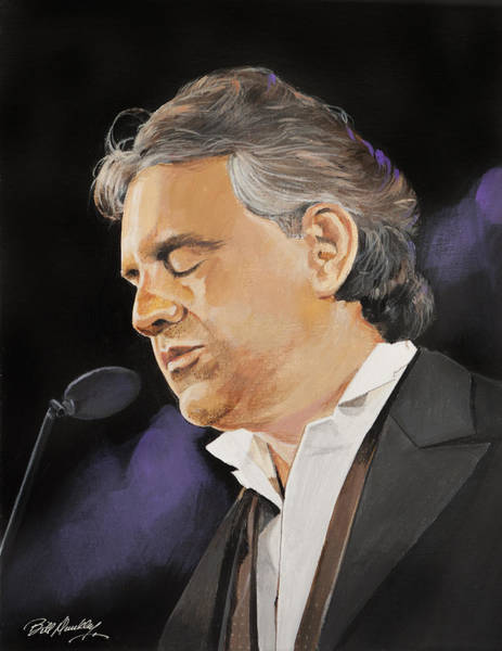 Oprah Wall Art - Painting - Andrea Bocelli by Bill Dunkley