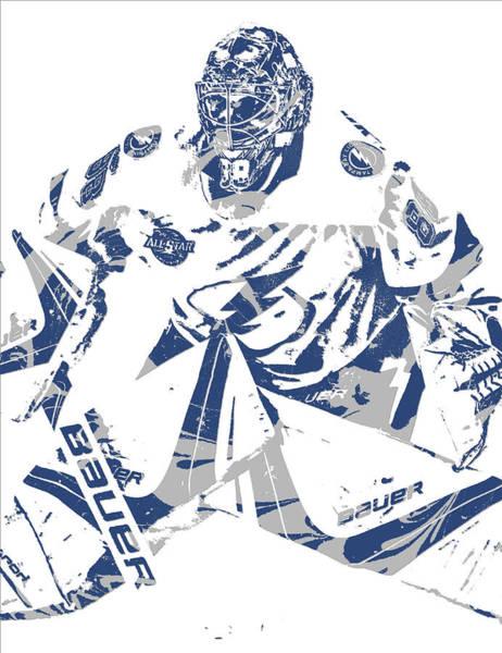 Wall Art - Mixed Media - Andrei Vasilevskiy Tampa Bay Lightning Pixel Art 1 by Joe Hamilton