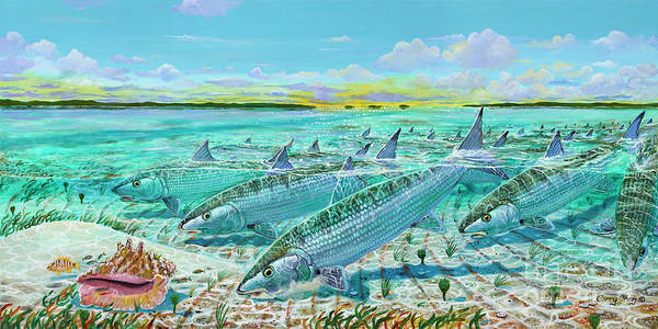 Wall Art - Painting - Andros  Bonefishes In0032 by Carey Chen