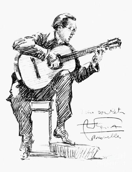 Drawing - Andres Segovia by Granger