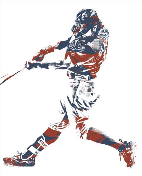 Wall Art - Mixed Media - Andrew Benintendi Boston Red Sox Pixel Art 11 by Joe Hamilton