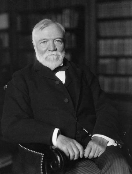 Robbers Photograph - Andrew Carnegie Seated In A Library by War Is Hell Store