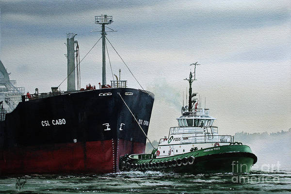 Tug Wall Art - Painting - Andrew Foss Ship Assist by James Williamson