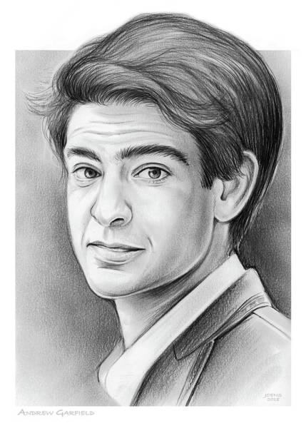 Drawing - Andrew Garfield by Greg Joens