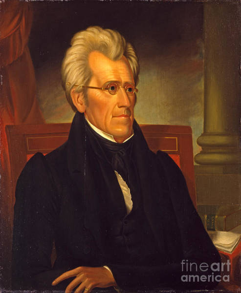 Painting - Andrew Jackson  by Celestial Images