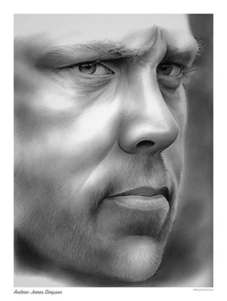 Wall Art - Drawing - Andrew Simpson by Greg Joens