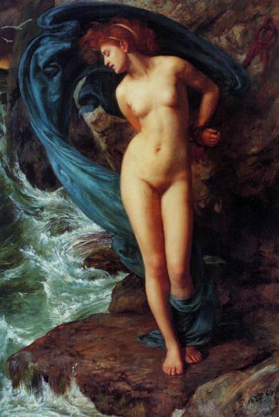 Maroon Painting - Andromeda by Sir Edward John Poynter