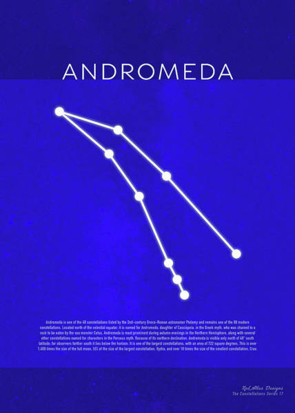 Wall Art - Mixed Media - Andromeda The Constellations Minimalist Series 17 by Design Turnpike