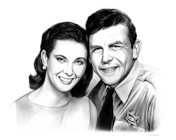 Wall Art - Drawing - Andy And Ellie by Greg Joens