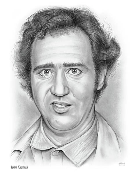 Wall Art - Drawing - Andy Kaufman by Greg Joens