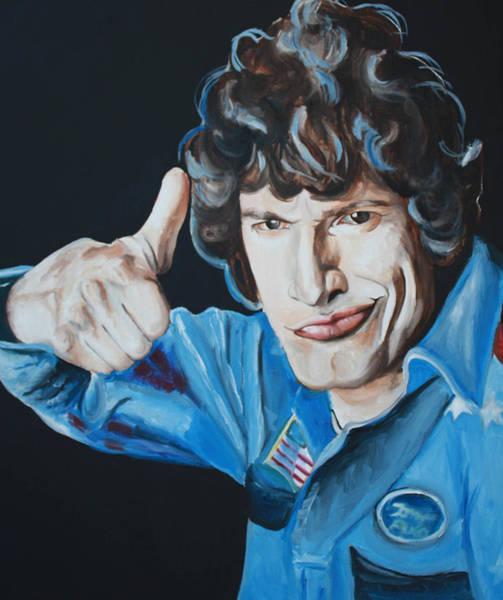 Wall Art - Painting - Andy Samberg Painting Hot Rod by Mikayla Ziegler