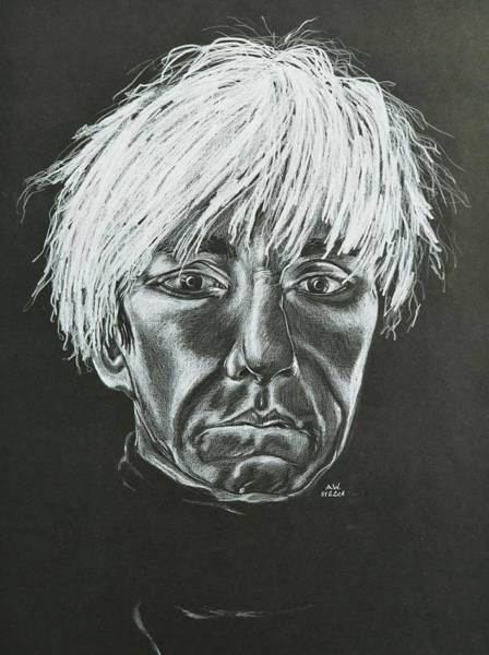 Warhol Drawing - Andy Warhol by Elizabeth Cox
