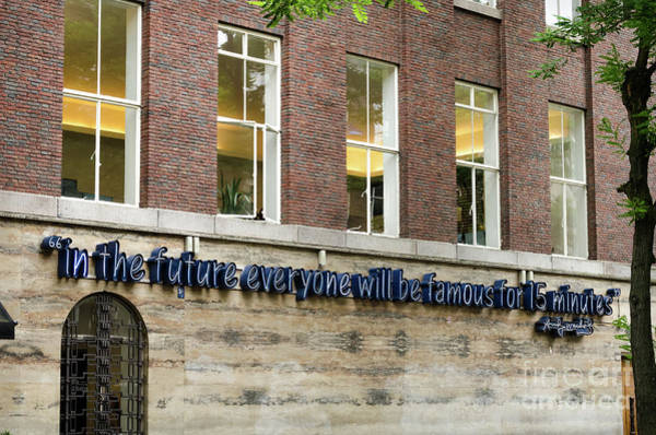 Wall Art - Photograph - Andy Warhol Quote In Rotterdam by RicardMN Photography