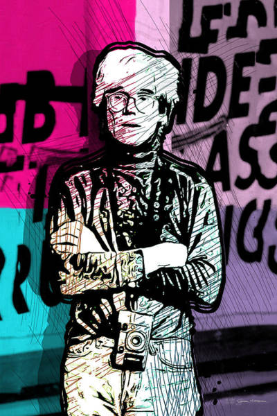 Digital Art - Andy Warhol With Camera - Tribute No. 1 by Serge Averbukh