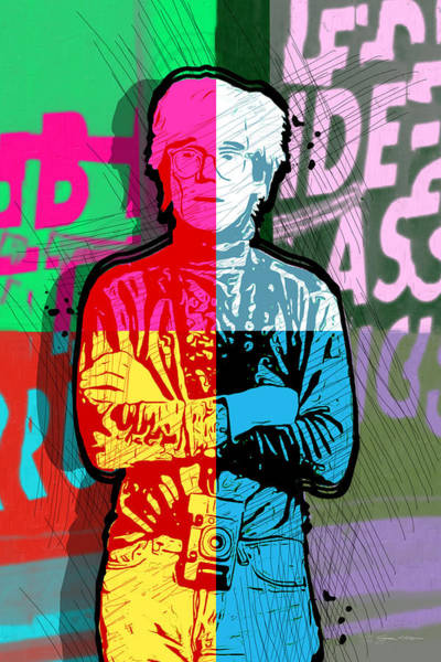 Digital Art - Andy Warhol With Camera - Tribute No. 2 by Serge Averbukh