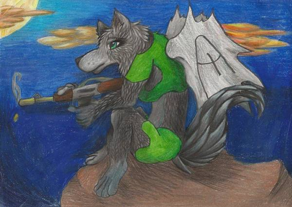 Furry Drawing - Anelianne Killer Of The Night by Kyeesha Davis