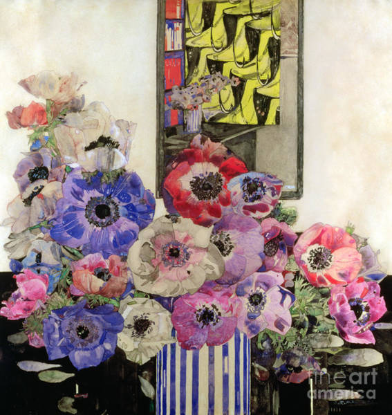 Wall Art - Painting - Anemones By Charles Rennie Mackintosh by Charles Rennie Mackintosh