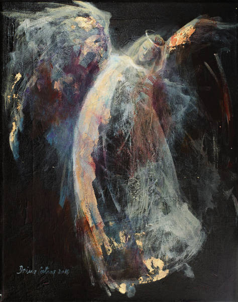 Wall Art - Painting - Angel 7 by Dorina Costras