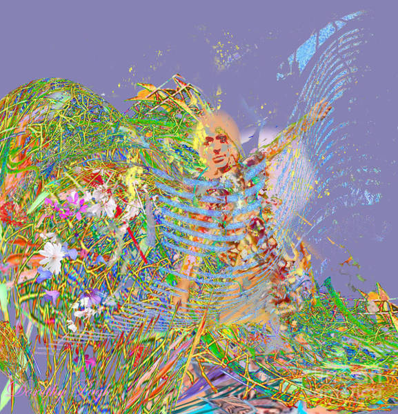 Digital Art - Angel Arriving by Dorothy  Pugh