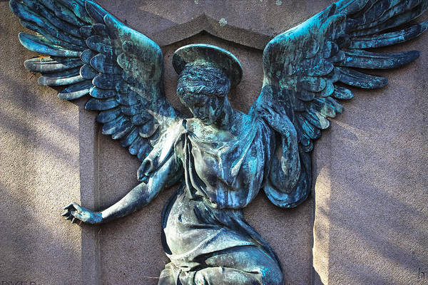 Famous Cemeteries Photograph - Angel Art - Guardian Angel by Colleen Kammerer