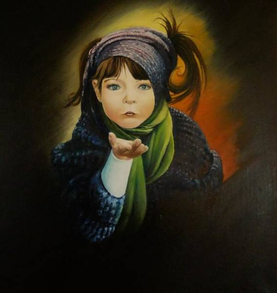 Benny Painting - Angel by Benny Brimmer