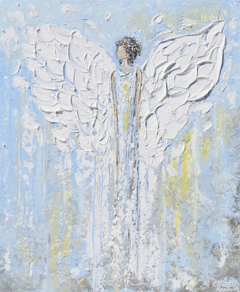 Wall Art - Painting - Angel Beside You by Christine Bell