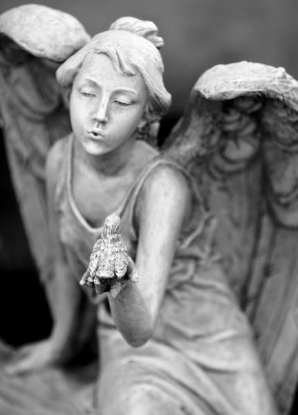 Angel Blowing Kisses Art Print by Gwen Allen
